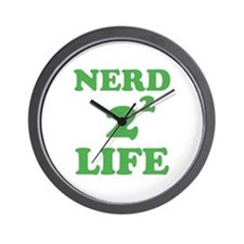 NERD FOR LIFE Wall Clock