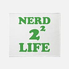 NERD FOR LIFE Throw Blanket