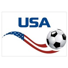 Soccer USA Canvas Art
