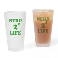 NERD FOR LIFE Drinking Glass