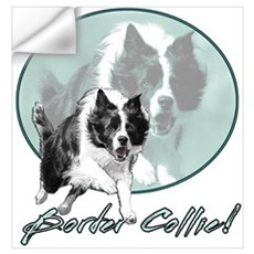 Border Collie Drive Wall Decal