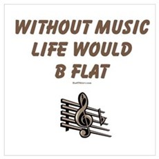W/O Music Life's Flat Canvas Art