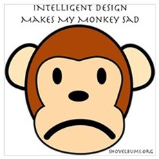 Intelligent Design Makes My Monkey Sad... Small Po Canvas Art