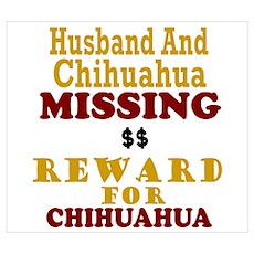 Husband & Chihuahua Missing Poster