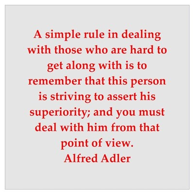 Alfred Adler quotes Poster
