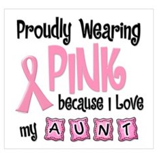 Proudly Wearing Pink 2 (Aunt) Canvas Art