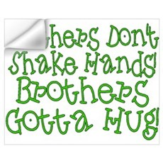 Brothers Hug Wall Decal