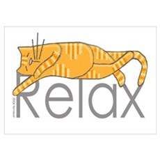 Relaxation Cat Poster