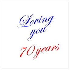 Loving you 70 years Framed Print