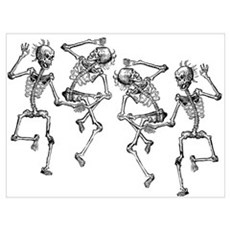 Dancing Skeletons Poster