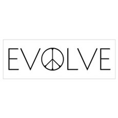 Evolve Peace Narrow Framed Print