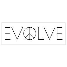 Evolve Peace Narrow Poster