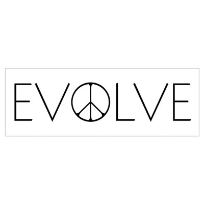 Evolve Peace Narrow Canvas Art