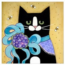 Black Tuxedo CAT Date Night Canvas Art