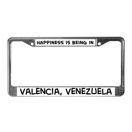 Happiness is Valencia License Plate Frame