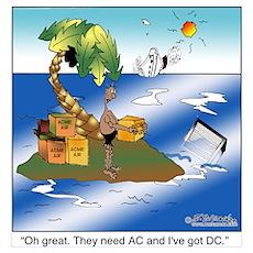 AC/DC Island Poster