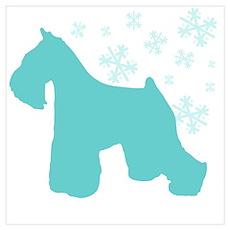 Schnauzer Snowflake Poster