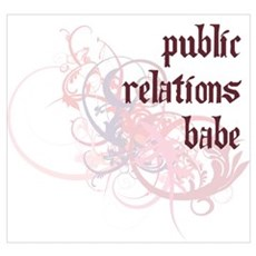 Public Relations Babe Framed Print