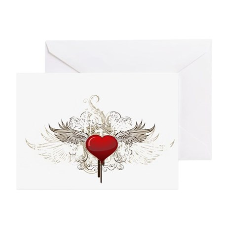 Grunge Heart Greeting Cards (Pk of 10)
