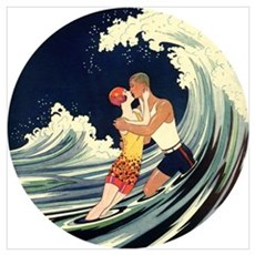 Love in the Surf Poster