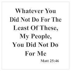 Jesus & Helping The Poor Poster