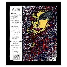 Trigger Illustrated Poem Poster