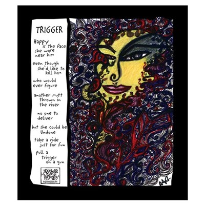 Trigger Illustrated Poem Canvas Art