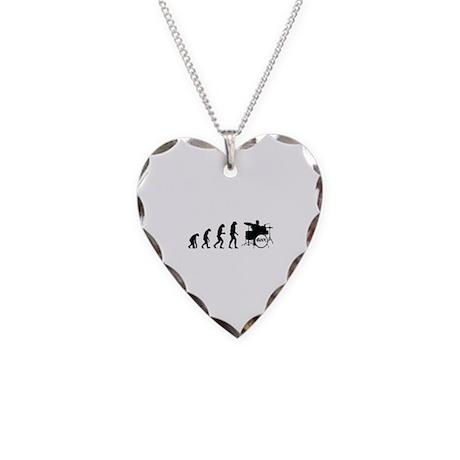 Evolution rock Necklace Heart Charm
