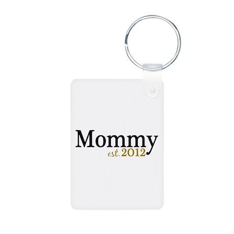 New Mommy Est 2012 Aluminum Photo Keychain