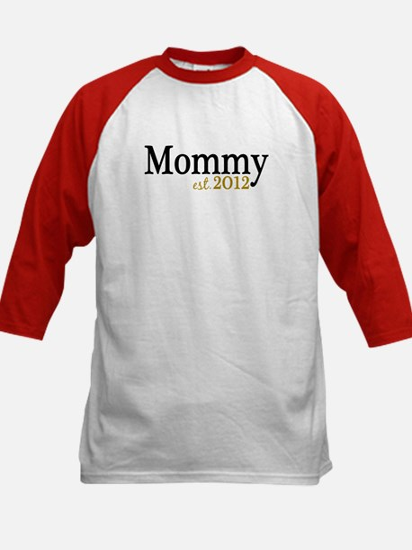 New Mommy Est 2012 Kids Baseball Jersey