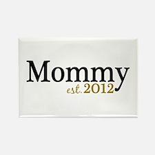 New Mommy Est 2012 Rectangle Magnet