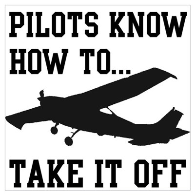 Pilots Know How To Take It Off Poster