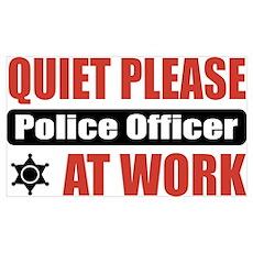 Police Officer Work Poster