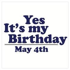 May 4 Birthday Poster