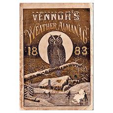 1883 Almanac Cover Poster