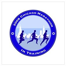 2008 Chicago Marathon - In Training Small Framed P Poster