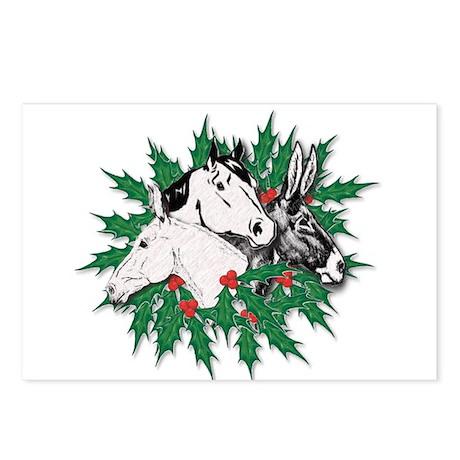 Merry Christmas Three Times O Postcards (Package o