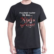 Preschool Teacher Ninja T-Shirt