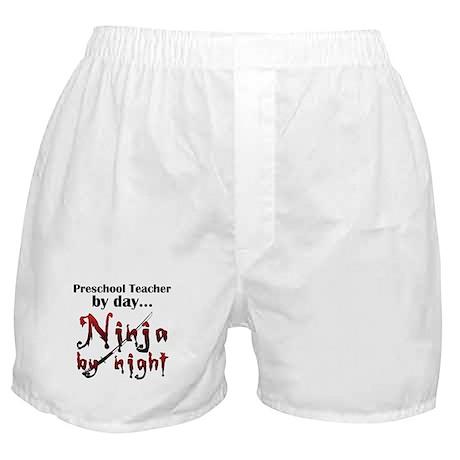 Preschool Teacher Ninja Boxer Shorts