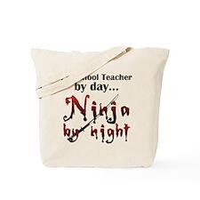 Preschool Teacher Ninja Tote Bag
