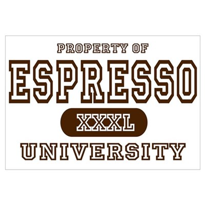 Espresso University Canvas Art