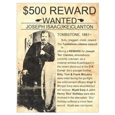 Wanted Ike Clanton Poster
