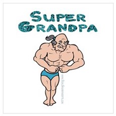 Super Grandpa Gifts Poster