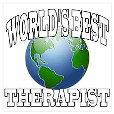 WORLD'S BEST THERAPIST Poster