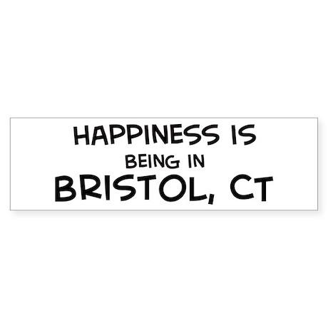 Happiness is Bristol Bumper Sticker