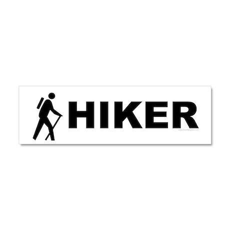 Hiker Symbol Car Magnet 10 x 3