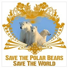 Save The Polar Bears Poster