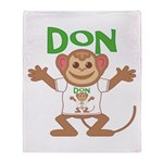 Little Monkey Don Throw Blanket
