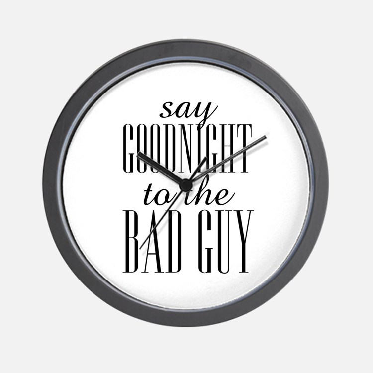 Say Goodnight To The Bad Guy Scarface Wall Clock