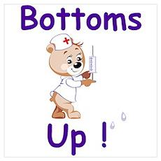 Bottoms Up Bear Poster